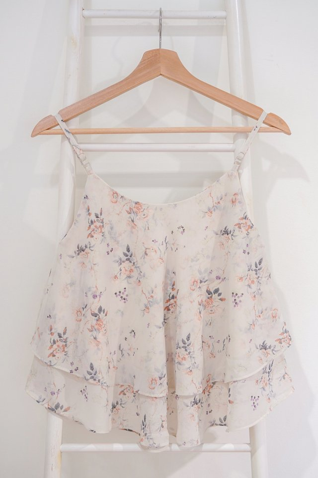 *LIMITED EDITION* DELLA FLORAL LAYERED SWING CAMI TOP #MADEBYLOVET