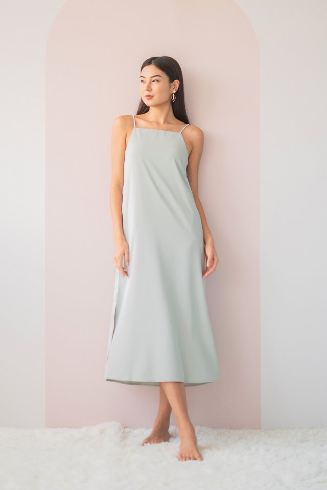 DELYSE SLIT MAXI DRESS #MADEBYLOVET (SEAFOAM)