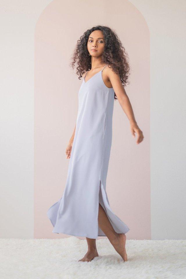 DELYSE SLIT MAXI DRESS #MADEBYLOVET (LILAC GREY)