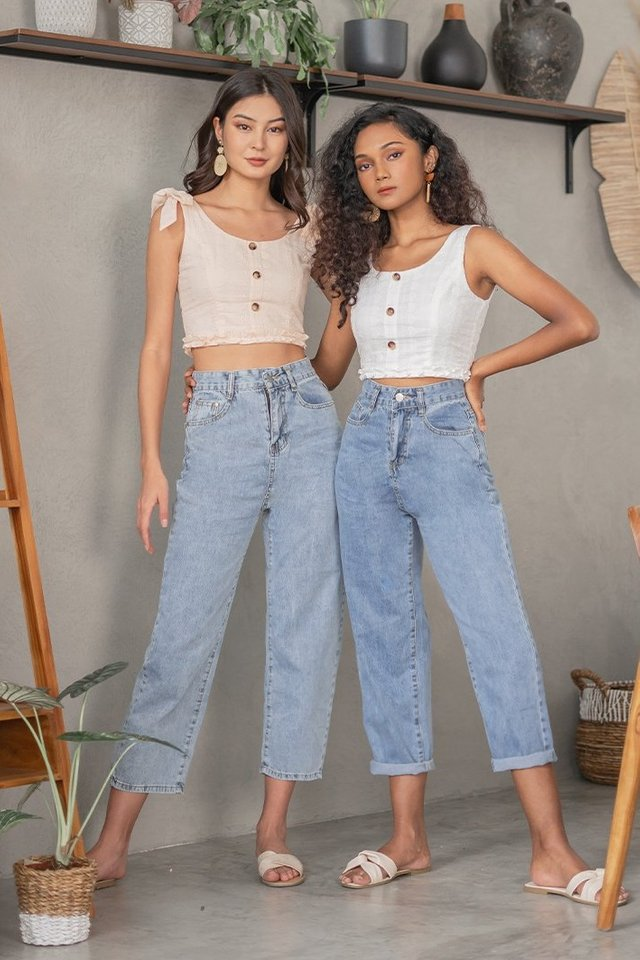 MAMA MIA HIGH WAIST MOM JEANS #MADEBYLOVET (DARK WASHED) *RESTOCKED*