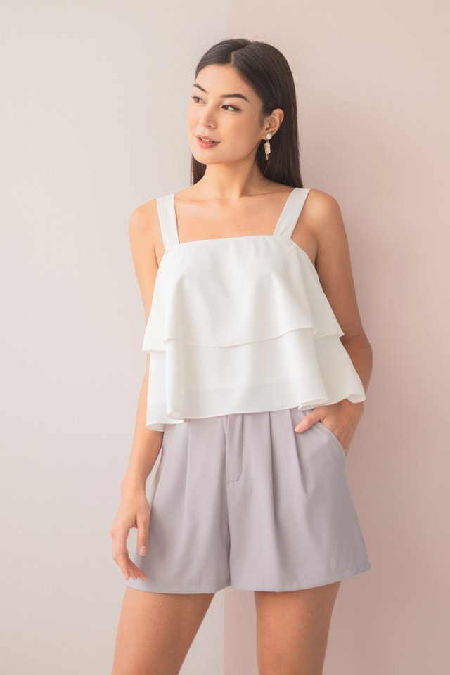 HILLARY TIERED SWING TOP #MADEBYLOVET (WHITE)