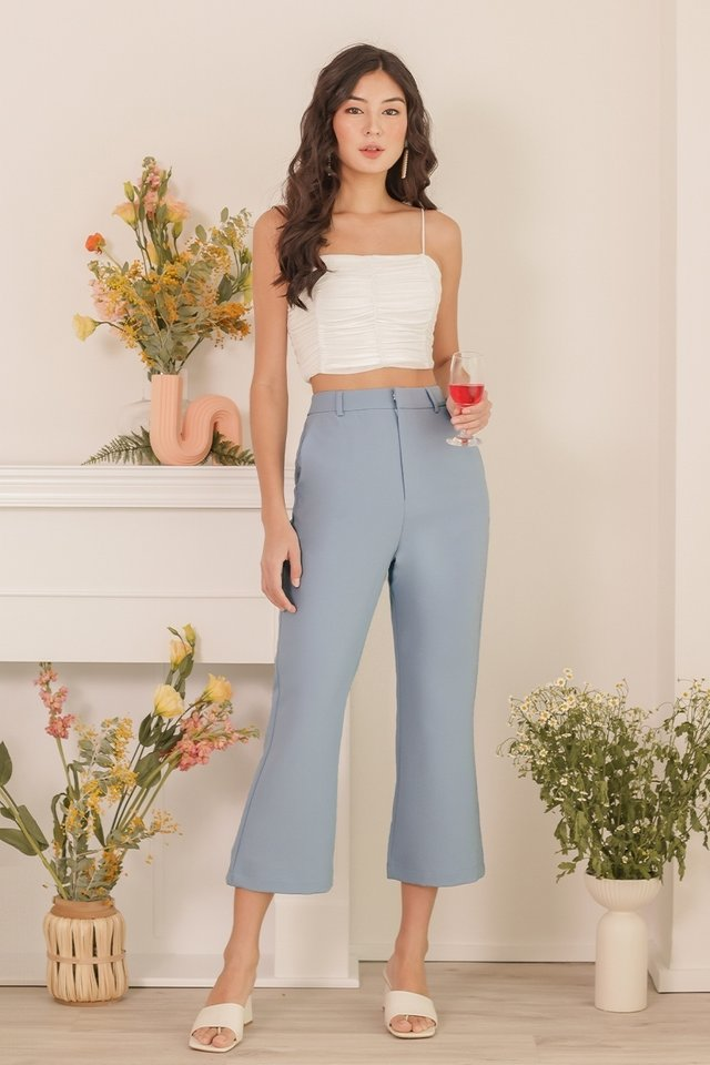REMI BELL BOTTOM PANTS #MADEBYLOVET (PLATONIC BLUE)