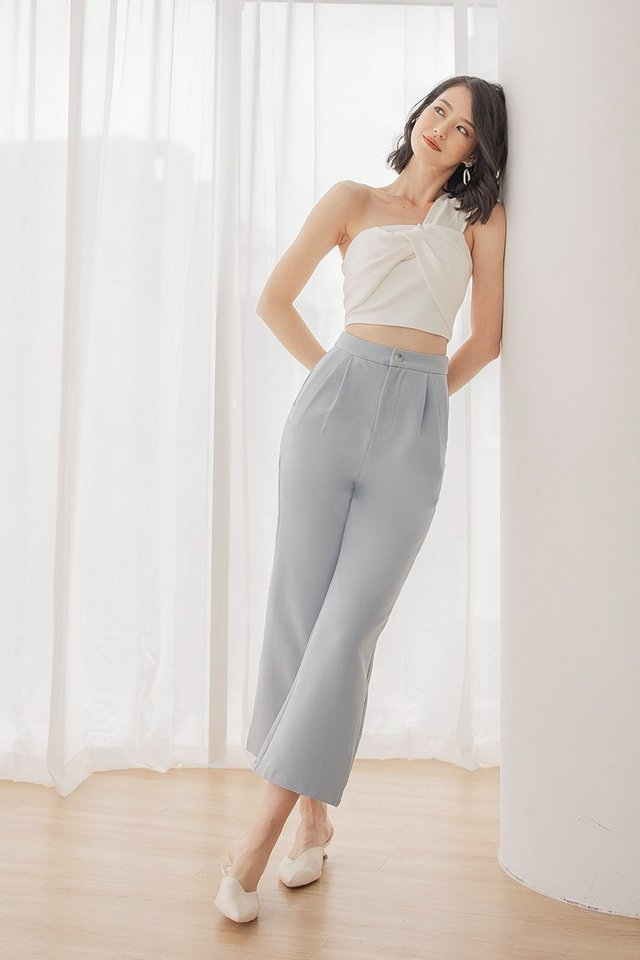 LEIGHTON COLOURBLOCK CONTRAST PANTS #MADEBYLOVET (DOLPHIN BLUE)