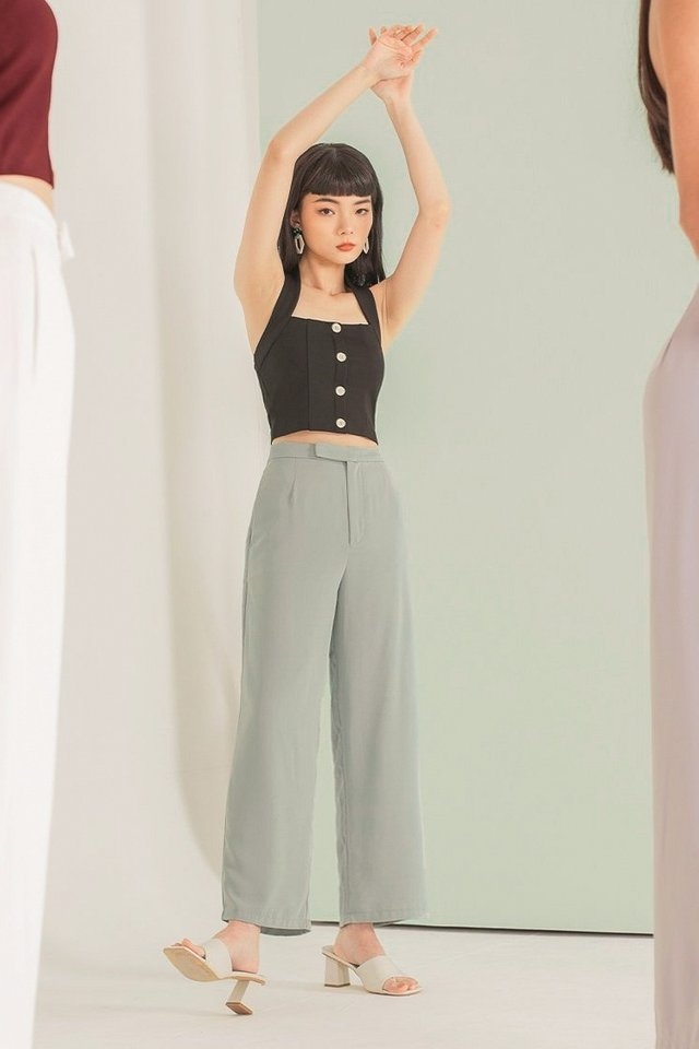 SYDNEY BUCKLE STRAP PANTS #MADEBYLOVET (SEAFOAM BREEZE)