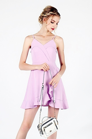 ZOE RUFFLES SPAGHETTI DRESS (LILAC)