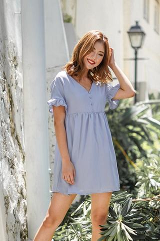 DIANE BABYDOLL TUNIC DRESS (POWDER BLUE)