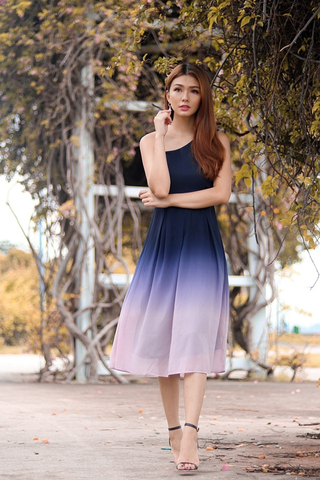 DESTINY OMBRE TOGA MIDI DRESS (VALENTINE)