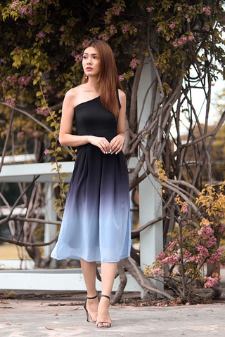 DESTINY OMBRE TOGA MIDI DRESS (DUSK)