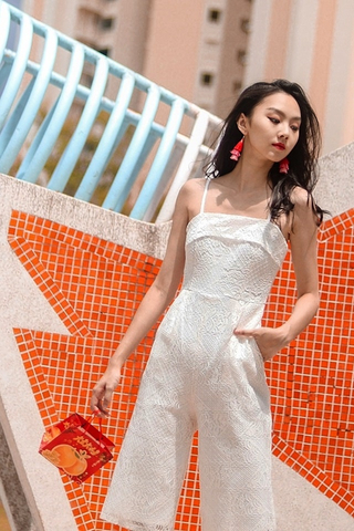 GAIL CROCHET LACE CULOTTE JUMPSUIT (WHITE)