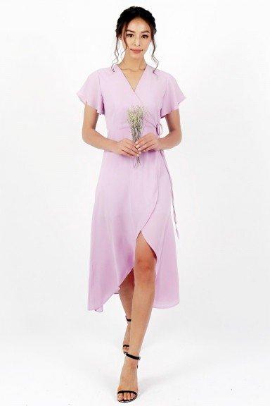 TIARA KIMONO TIE STRING WRAP DRESS #MADEBYLOVET (LILAC)